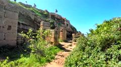 Ruins of Tipasa(Tipaza) Stock Footage