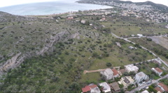 Aerial Panoramic View of Vari Town in Greece Stock Footage
