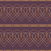 Seamless Abstract Pattern from Rectangles and Hearts - stock illustration