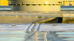 Industrial Sewage Treatment Plant. Moving Parts. a View of the Water Treatment Stock Footage