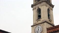 Bells ringing Grey Sky Stock Footage