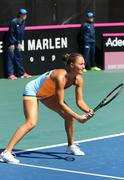 Fed Cup Tennis: Ukraine v Argentina in Kyiv Stock Photos