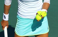Fed Cup Tennis: Ukraine v Argentina in Kyiv - stock photo
