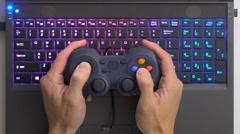 Laptop computer gaming Stock Footage