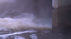Swirling Water. Industrial View. Environmental Pollution - stock footage