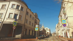 MOSCOW, RUSSIA -  April  17, 2016:  historic center of Moscow Stock Footage