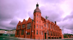 Landscape building In Liverpool,UK Stock Footage