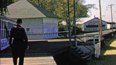 1967: Historic Becker's beach club holiday recreation destination. Stock Footage