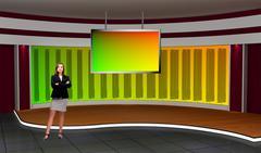 PSD Template of Psd TV Studio Set for Business