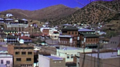 1957: Western USA mountain mining boomtown. Stock Footage