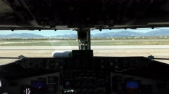 KC-135 Stratotanker in a jumpy taxi  Stock Footage