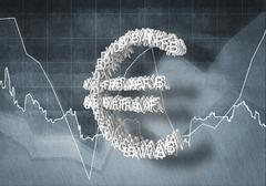 Euro currency rate Stock Illustration