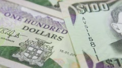 Jamaica currency - Banking and economic stability concept Stock Footage
