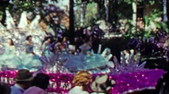 1952: Beauty pageant winners on parade float 200 year anniversary. - stock footage