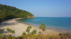 green coast of ko lanta island in thailand - stock photo