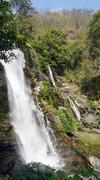 mae ya waterfall in doi inthanon natiopnal park - stock photo