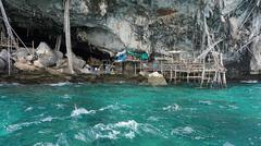 old viking cave in thailand nearko phi phi Stock Photos