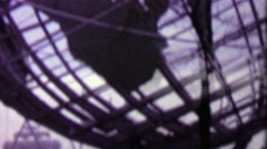 1964: Unisphere globe closeup people crowd EXPO New York World's Fair. - stock footage