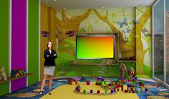 PSD Template of Tricaster Psd TV Studio Set for Kids