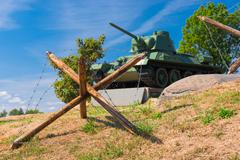 Zaslavl, Belarus - 20 August 2015: Military-Historical Complex Stalin Line Stock Photos