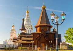 Beautiful All Saints Church on a sunny day, Minsk, Belarus Stock Photos