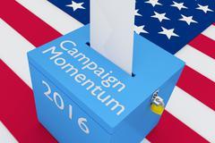 Campaign Momentum 2016 election concept - stock illustration