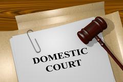 Domestic Court legal concept - stock illustration