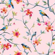 Stock Illustration of Watercolor floral pattern