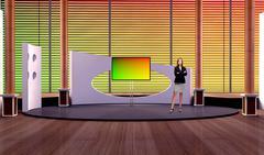 PSD Template of Tricaster Psd TV Studio Set for Talkshow