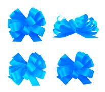 Set of four gift bows Stock Photos