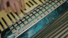 Close up of an musician playing accordion - stock footage