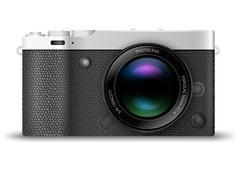 Mirrorless compact camera - stock illustration