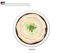 Hummus or Palestinian Chickpeas Spread Dip or Spread Stock Illustration