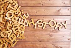 Word history made with wooden letters - stock photo