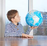 12 yo child composition - stock photo