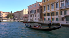 Views of the city and activity on the Grand Canal, Venice Stock Footage