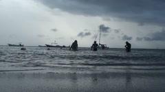 Beautiful Panoramic View of ocean at caribbean destination Stock Footage