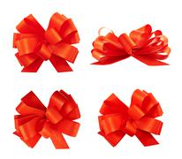 Set of four gift bows - stock photo