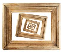 Abstract wooden picture frame composition Stock Photos