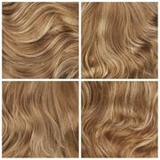 Set of four hair backgrounds - stock photo