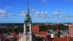 Holy Spirit Church in Torun, Poland Stock Footage
