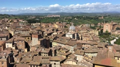 Panoramic aerial view of Siena - stock footage