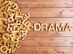 Stock Photo of Word drama made with wooden letters