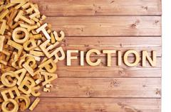 Word fiction made with wooden letters - stock photo