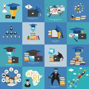 Business Education Concept. Trends and innovation in education - stock illustration