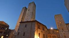 San Gimignano medieval buildings Stock Footage