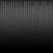 Black and White. Algorithm Binary Code with digits on background Stock Illustration