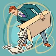 Man box prefabricated parts designer Stock Illustration