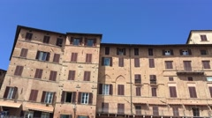 SIENA – APRIL 2016: Tourists in Piazza del Campo. Siena is a major destination - stock footage