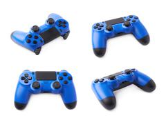 Gaming console controller isolated - stock photo